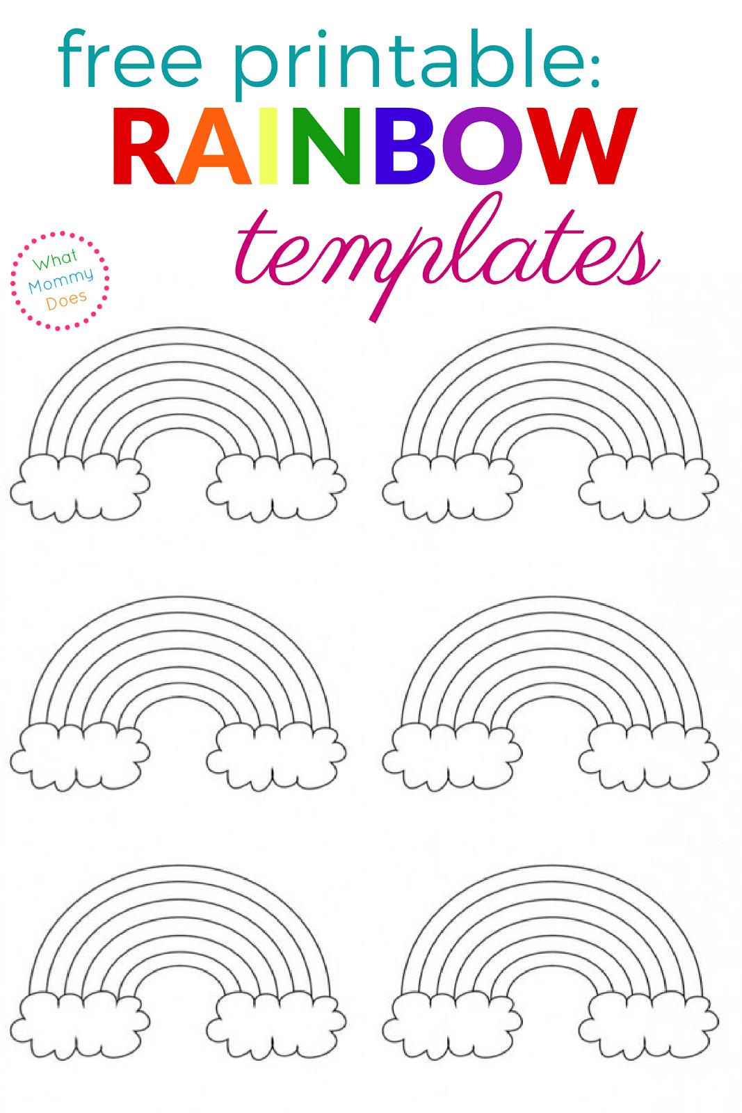 Free Printable Rainbow Templates – Large, Medium & Small Patterns - Free Printable Crafts