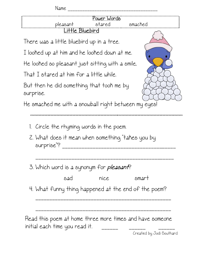 Free Printable Reading Comprehension Worksheets For Kindergarten - Free Printable 4Th Grade Reading Worksheets