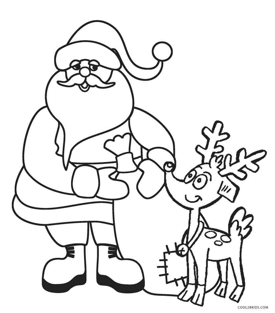 Free Printable Santa Coloring Pages For Kids | Cool2Bkids - Xmas Coloring Pages Free Printable