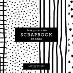 Free Printable Scrapbook Papers: Black And White Prints — Root   Free Printable Paper