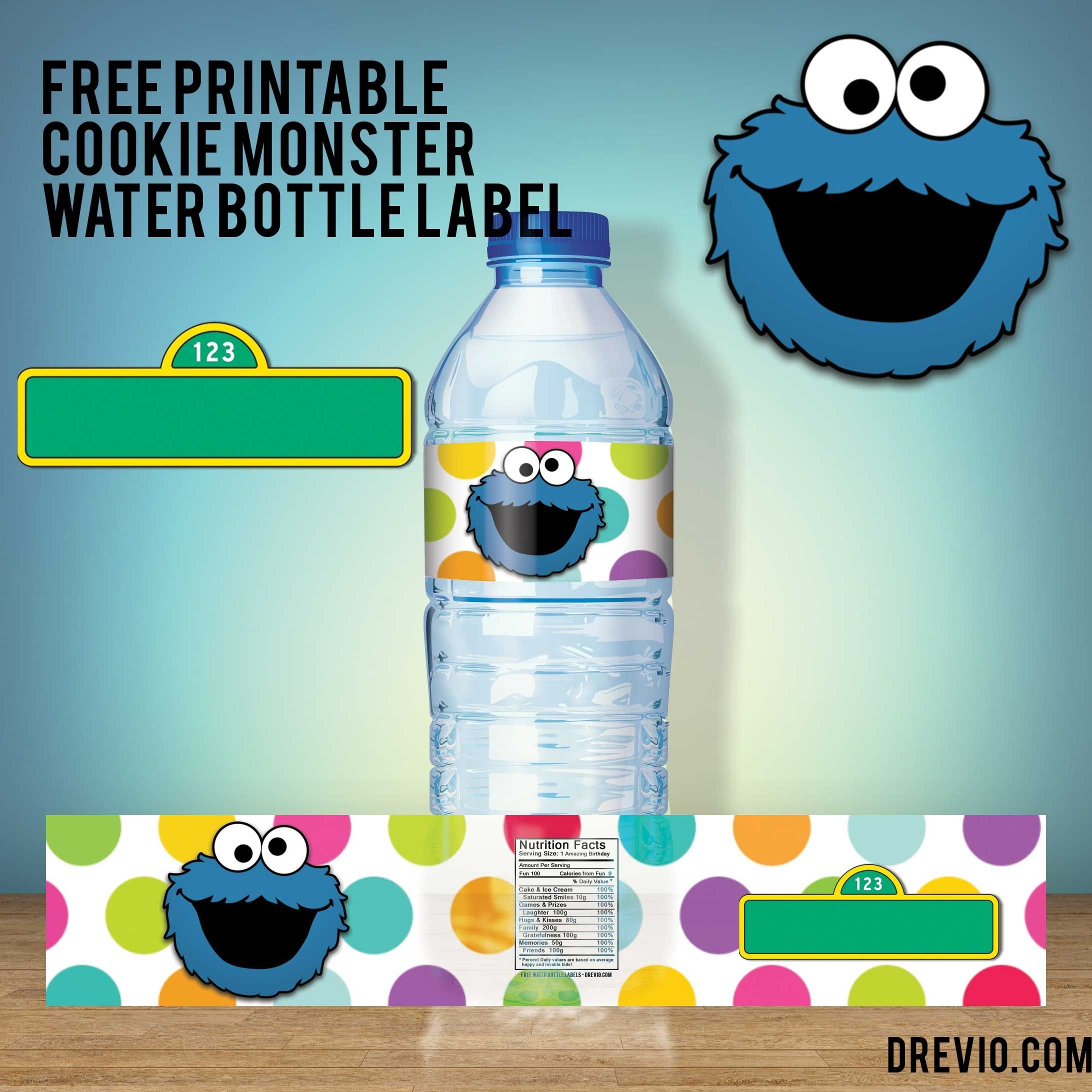 Free Printable Sesame Street Water Bottle Labels - Our Best - Free Printable Water Bottle Labels For Birthday