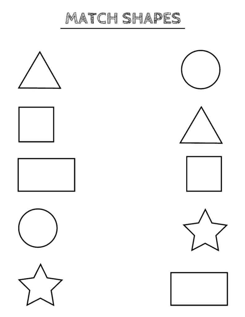 Free Printable Shapes Worksheets For Toddlers And Preschoolers - Free Printable Pages For Preschoolers