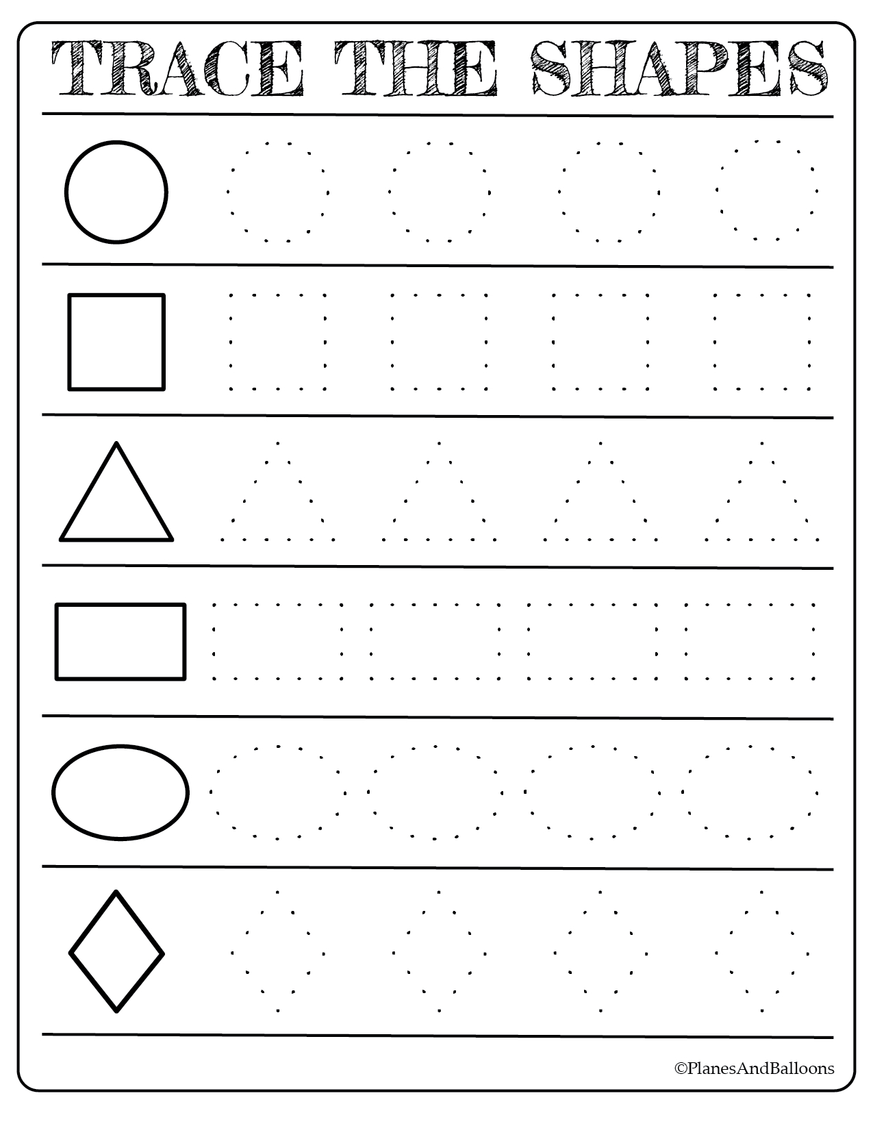 Free Printable Shapes Worksheets For Toddlers And Preschoolers - Toddler Learning Activities Printable Free