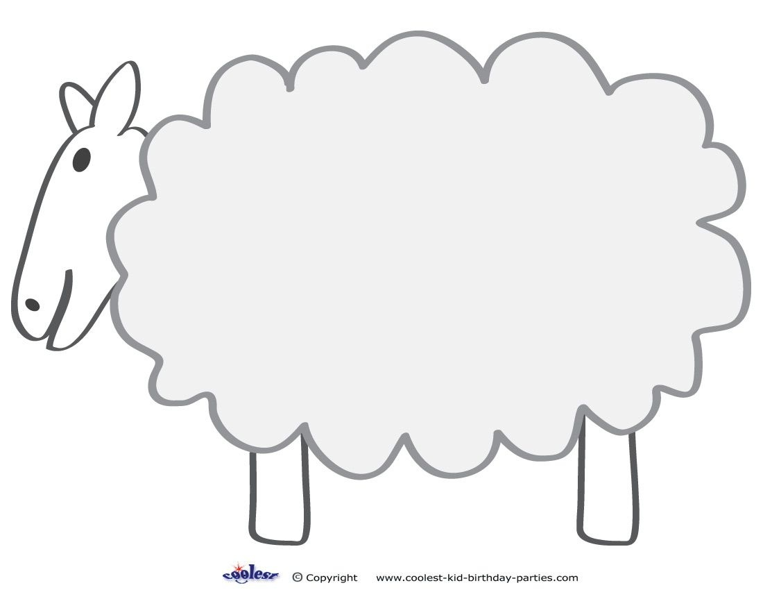 Free Printable Sheep Template | Colors And Things | Sheep Template - Free Printable Pictures Of Sheep