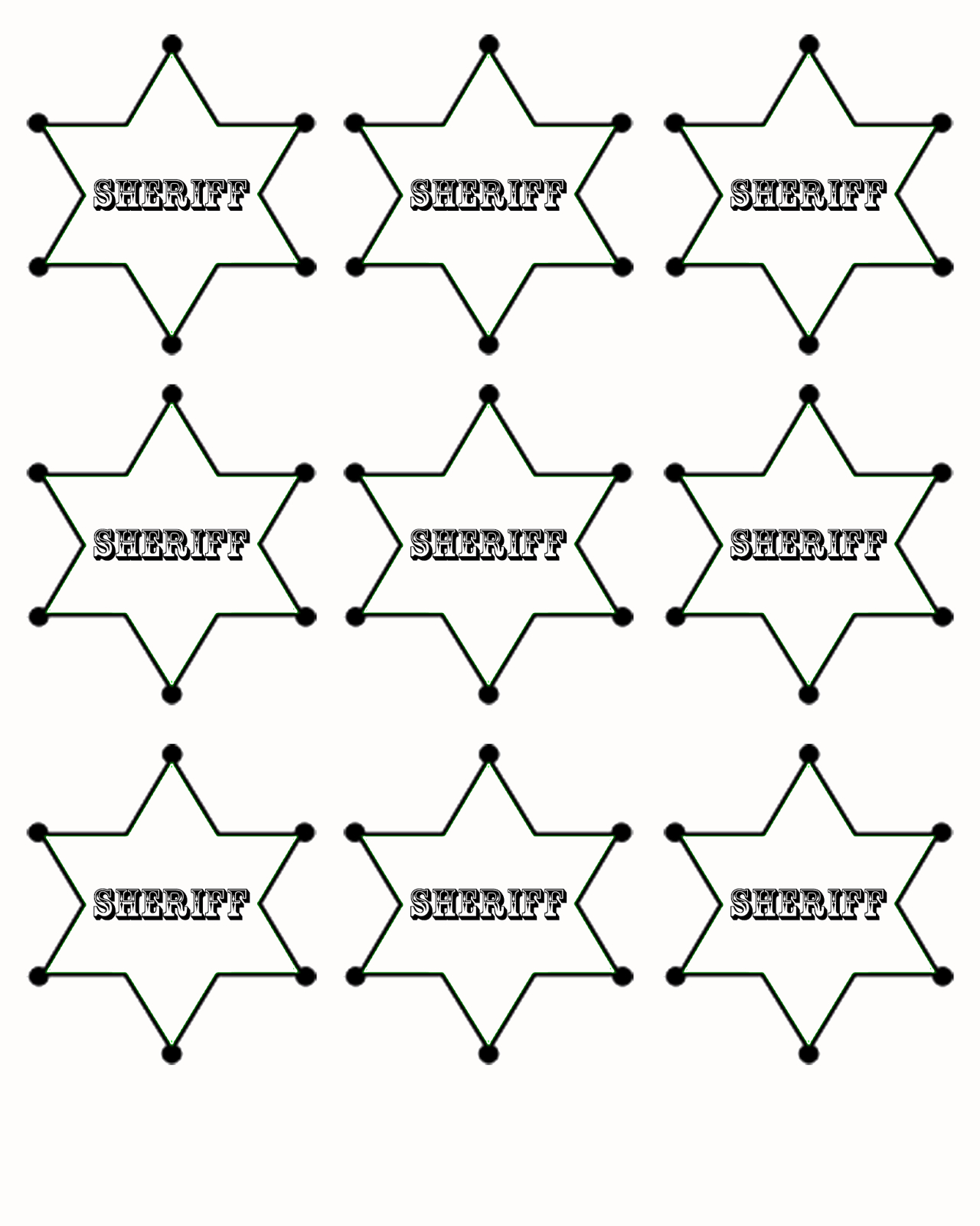 Free Printable Sheriff Badge Templets Right Click To Print Now Or - Free Printable Badges
