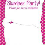 Free Printable Slumber Party Invitation | Party Ideas In 2019   Free Printable Birthday Invitations Pinterest