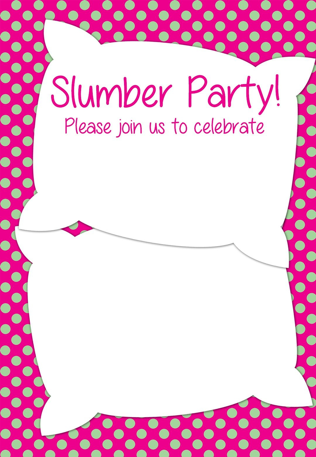 Free Printable Slumber Party Invitation | Party Ideas In 2019 - Free Printable Birthday Invitations Pinterest
