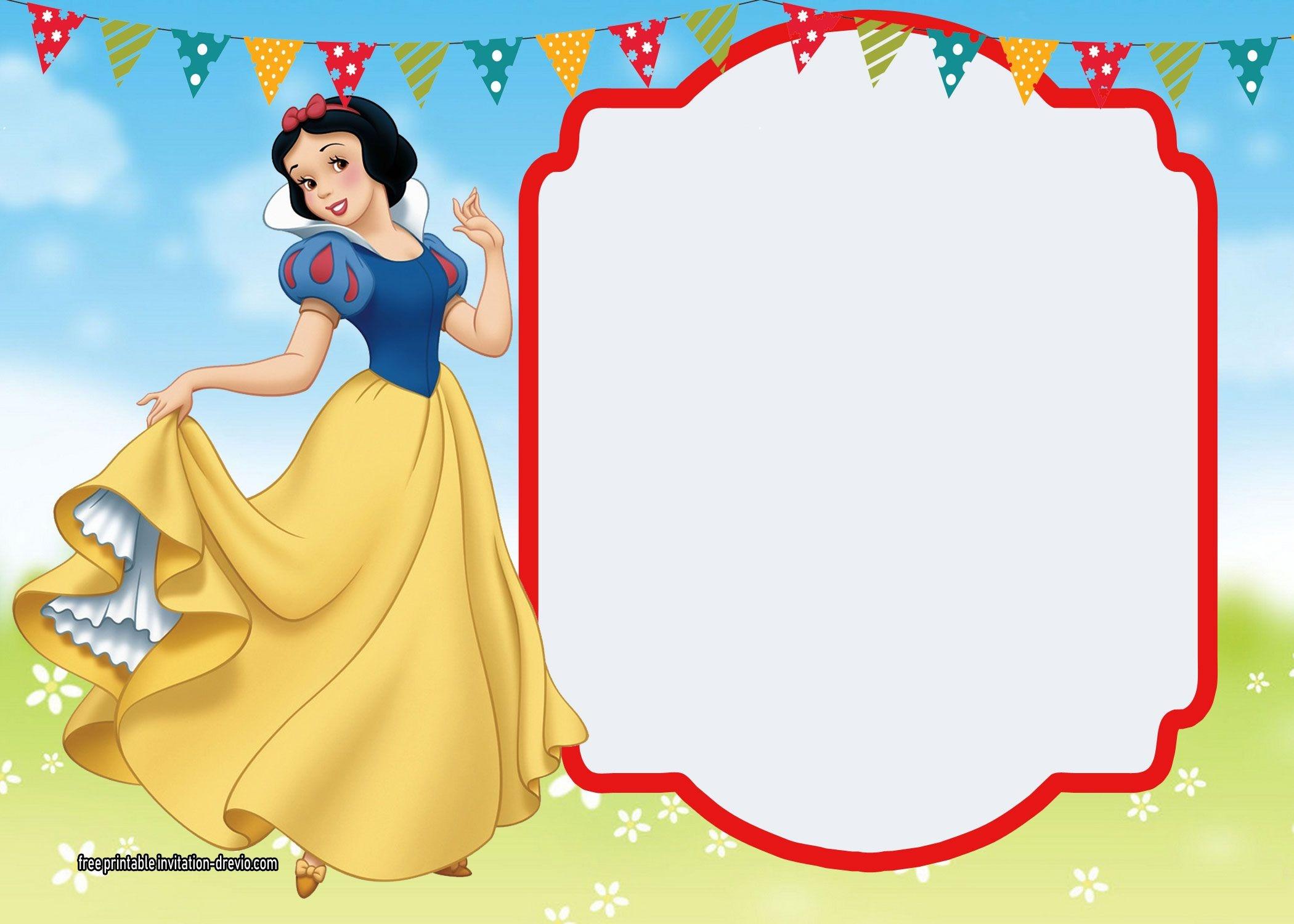 Free Printable Snow White Invitations - Complete Edition | Free - Snow White Invitations Free Printable