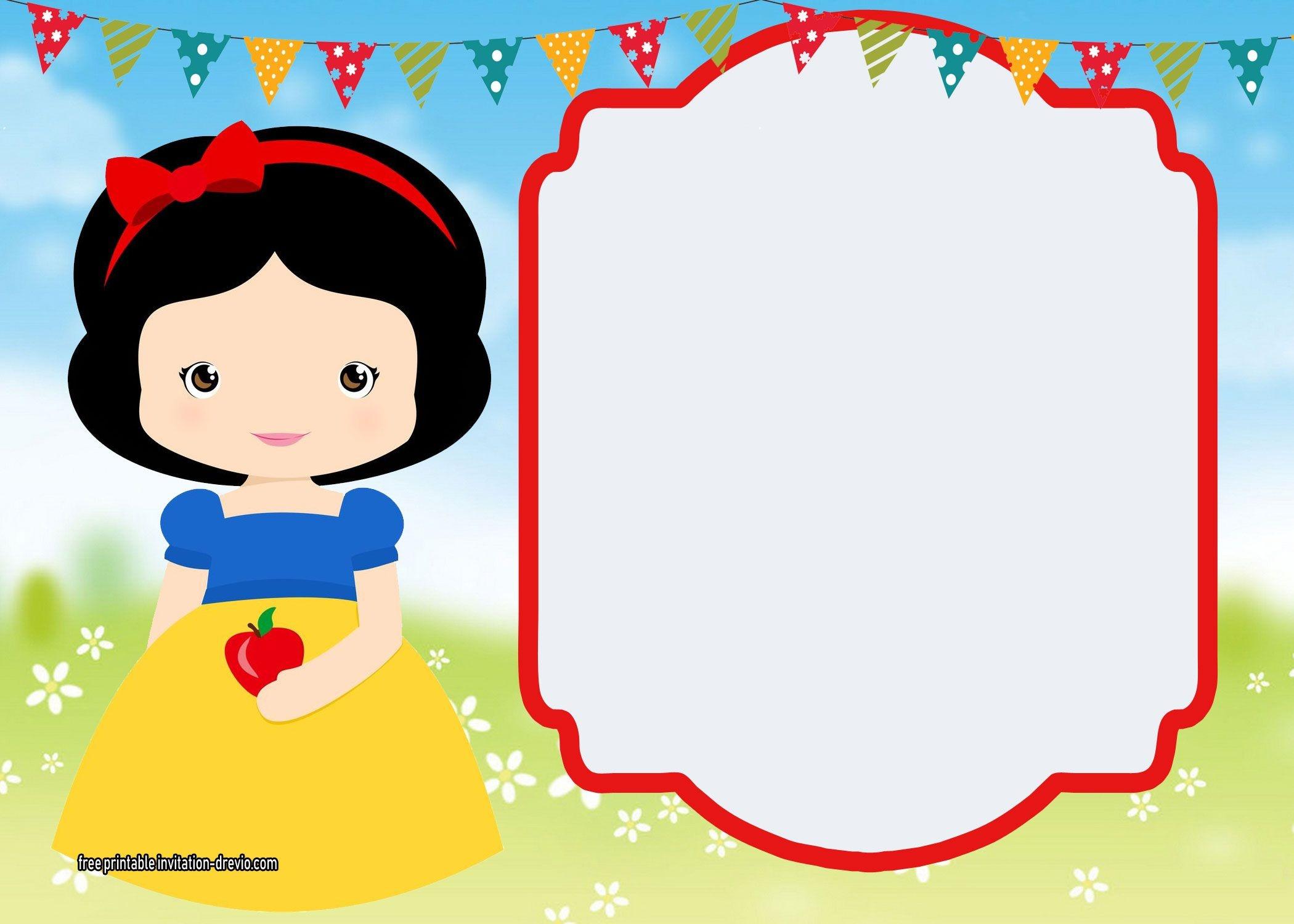 Free Printable Snow White Invitations - Complete | Free Printable - Snow White Invitations Free Printable