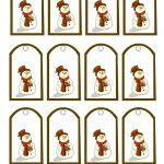 Free Printable Snowman Christmas Gift Tags   Free Printable Snowman Stationery