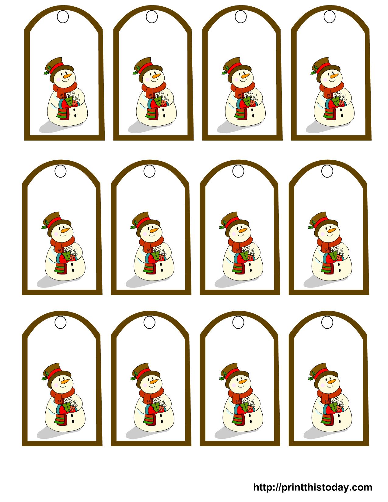 Free Printable Snowman Christmas Gift Tags - Free Printable Snowman Stationery