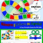 Free Printable Spanish Numbers & Colors Game   Pk1Homeschoolfun   Free Printable Spanish Numbers