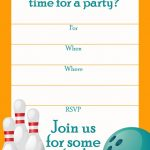 Free Printable Sports Birthday Party Invitations Templates | Dakota   Free Printable Bowling Invitation Templates