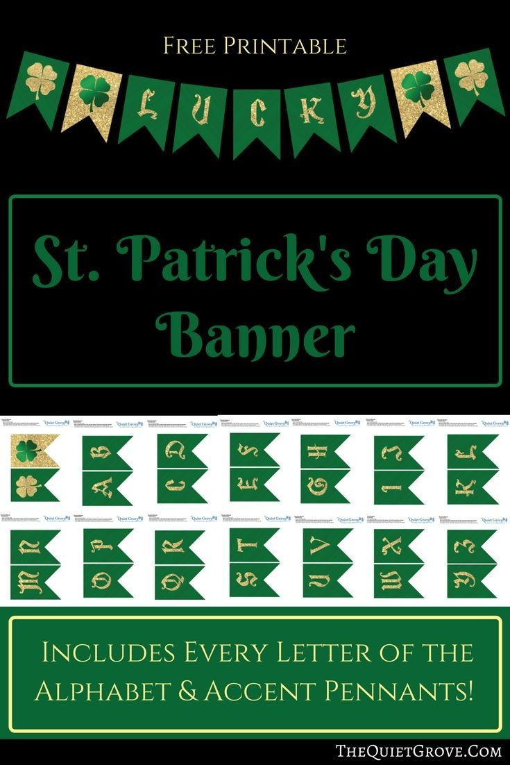 Free Printable St Patrick's Day Banner   Saint Patrick's Day Ideas - Free Printable St Patrick's Day Banner