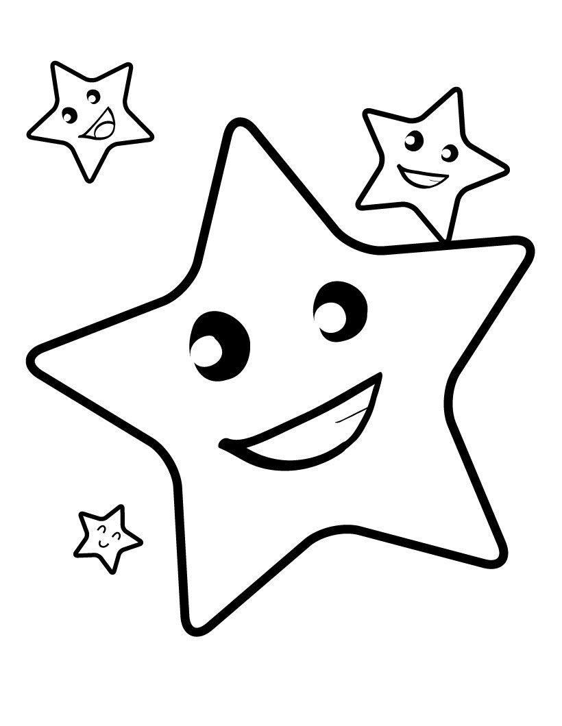 Free Printable Star Coloring Pages For Kids | 4 Kids Coloring Pages - Free Printable Coloring Books For Toddlers