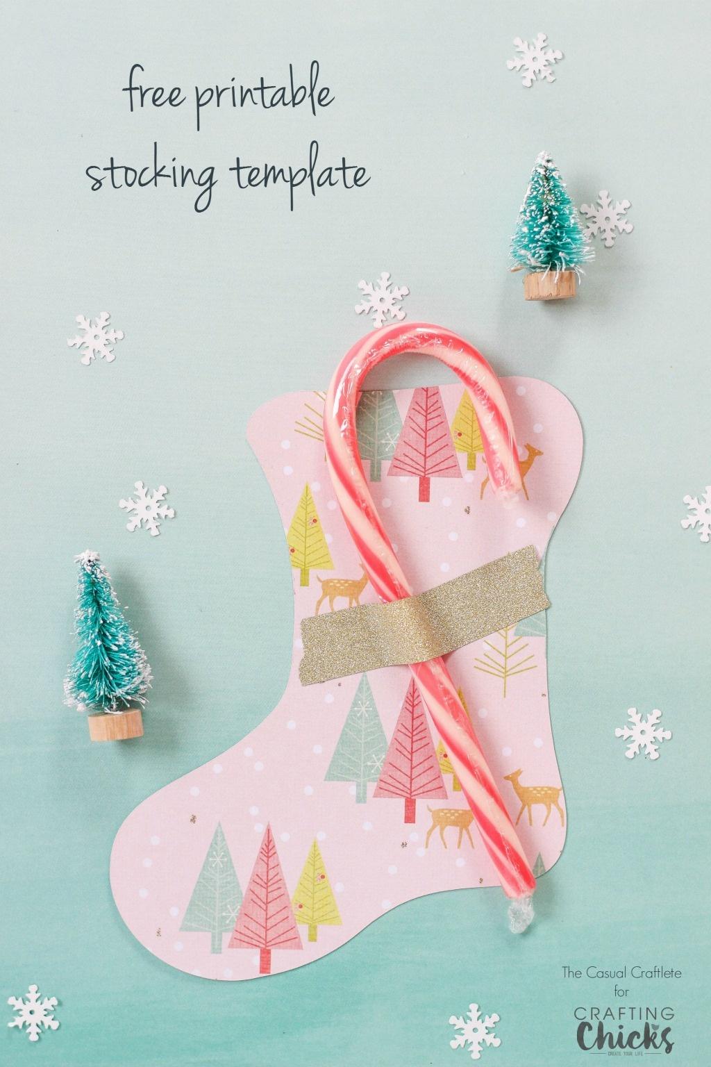 Free Printable Stocking Template - Christmas Stocking Template Printable Free