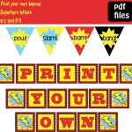 Free Printable Superhero Banner | Super Hero Theme Ideas And   Welcome Back Banner Printable Free