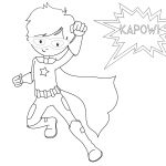 Free Printable Superhero Coloring Sheets For Kids   Crazy Little   Free Printable Superhero Coloring Pages