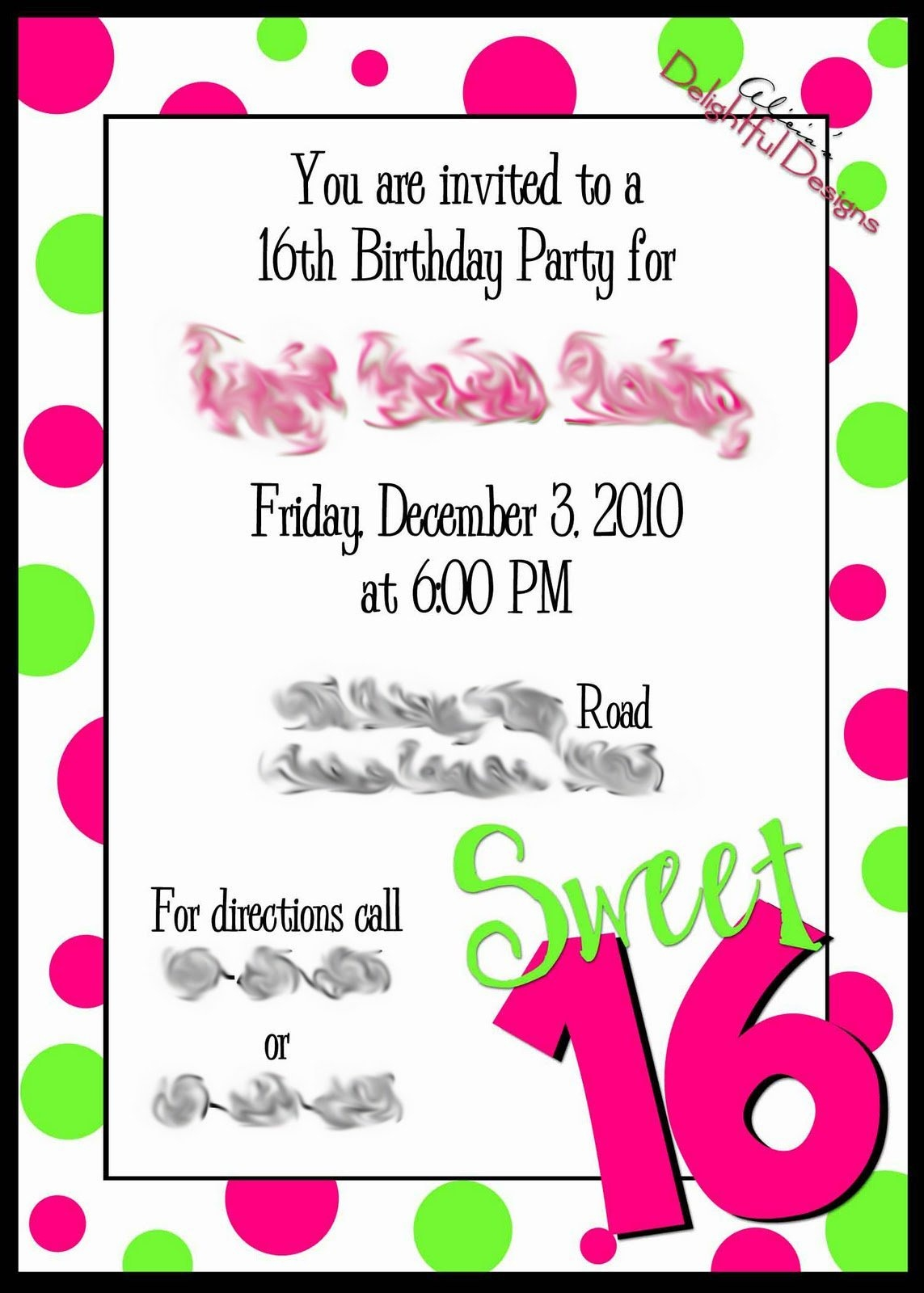 Free Printable Sweet 16 Invitations - Anarchistshemale - Free Printable Sweet 16 Birthday Party Invitations