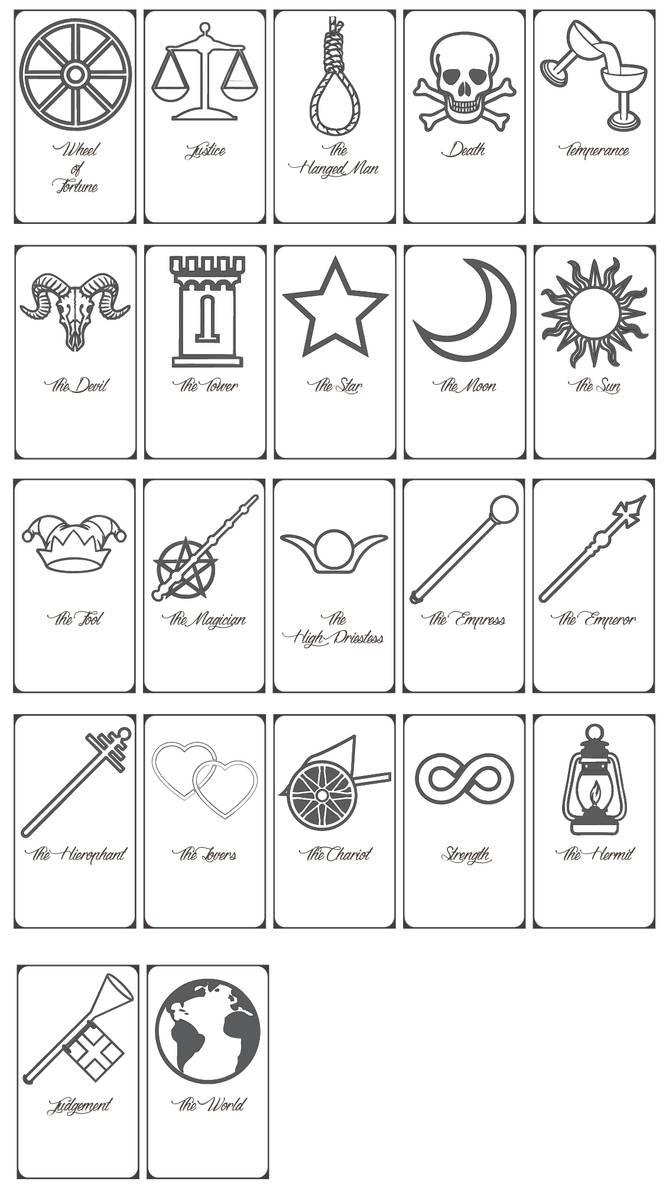 Free Printable Tarot Cards!keniakittykat On Deviantart - Free Printable Tarot Cards