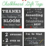 Free Printable Teacher Appreciation Chalkboard Gift Tags   Free Printable Tags For Teacher Appreciation