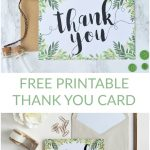 Free Printable Thank You Botanical Inspired Card | Wedding - Free Printable Thank You