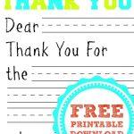 Free Printable Thank You Card | Kids Thank You Note Templates   Free Printable Thank You Cards For Soldiers