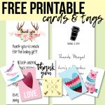 Free Printable Thank You Cards And Tags For Favors And Gifts!   Free Printable Picture Cards