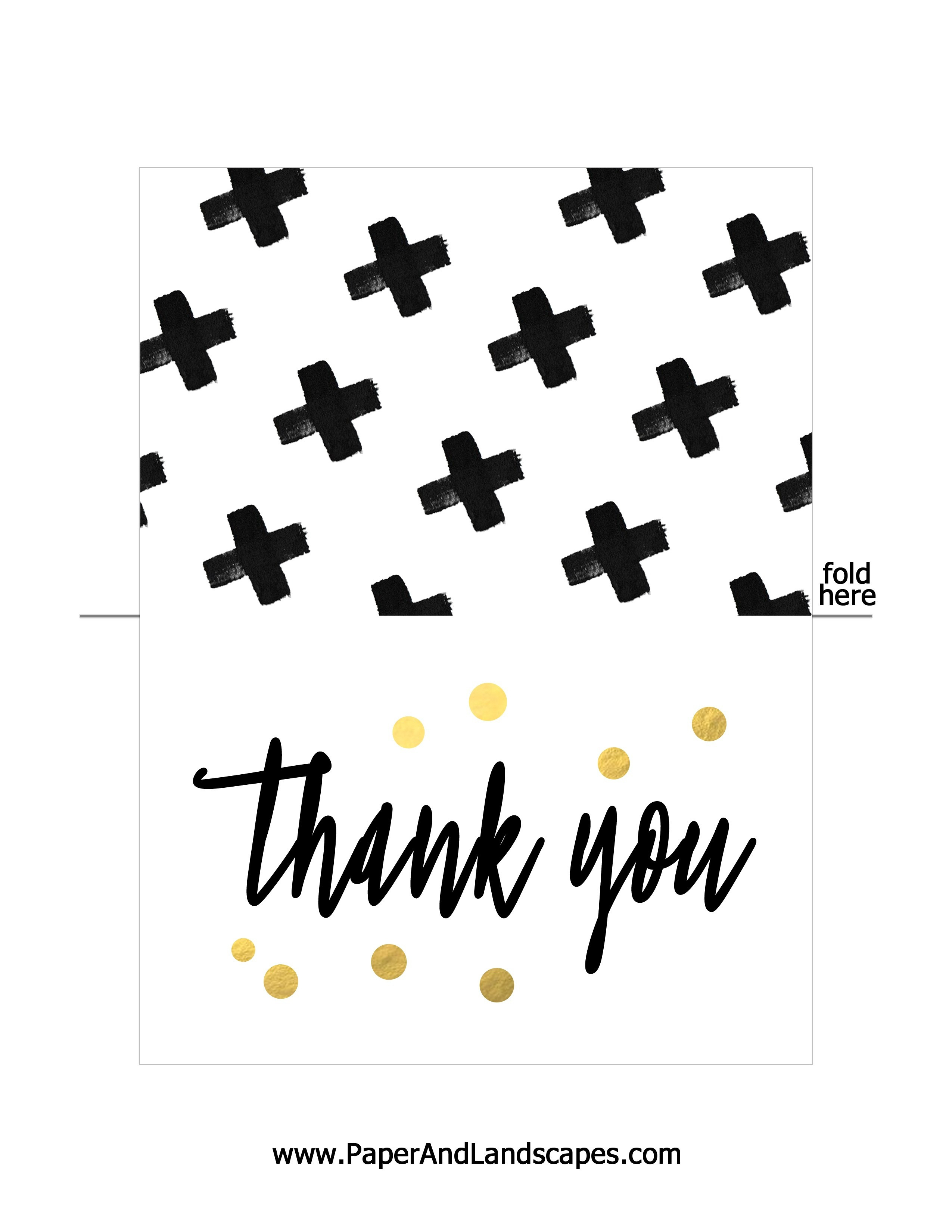 Free Printable Thank You Cards - Paper And Landscapes - Free Printable Thank You
