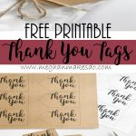 Free Printable Thank You Tags — Meghan Makes Do - Free Printable Thank You