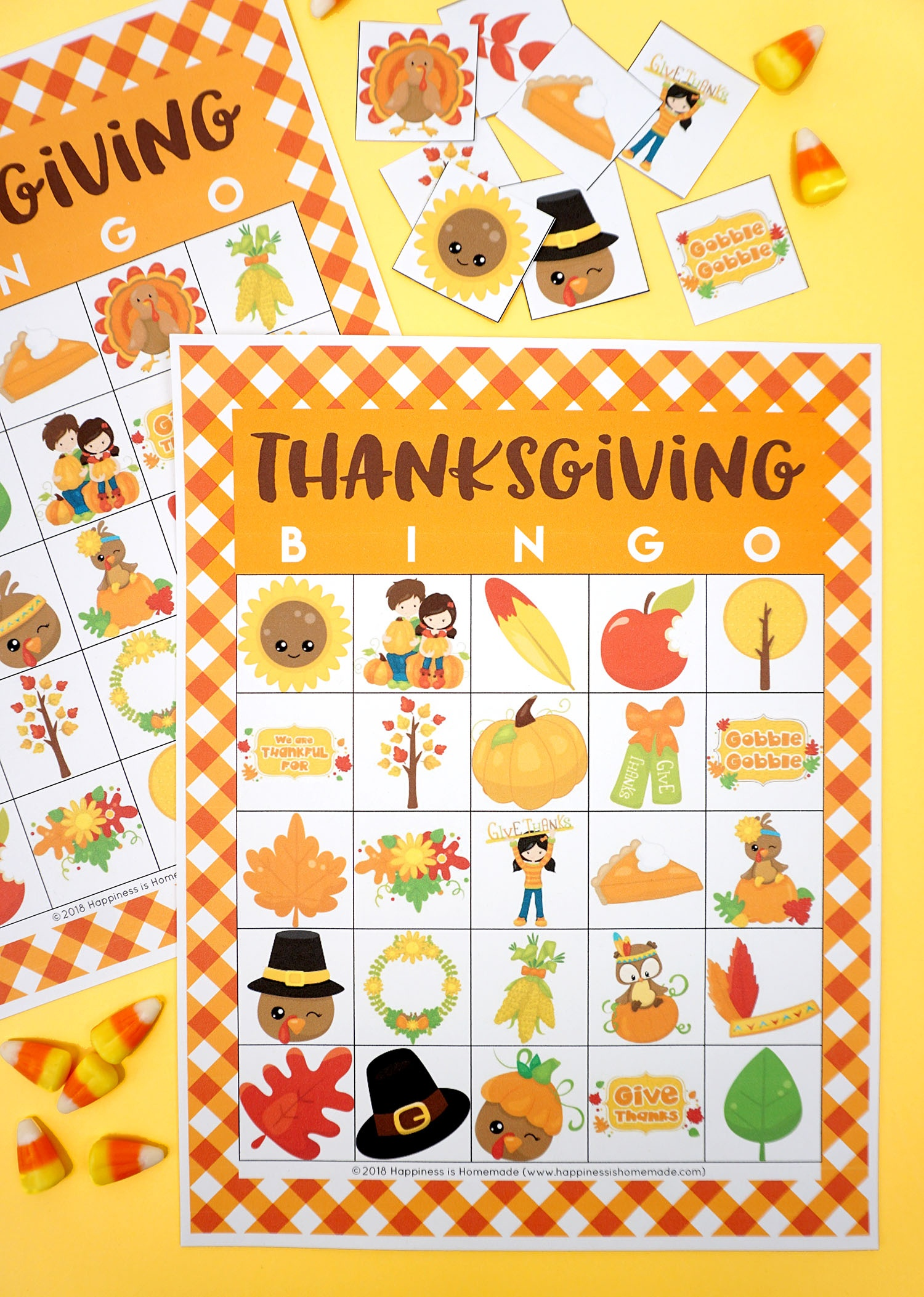 Free Printable Thanksgiving Bingo Cards - Happiness Is Homemade - Free Printable Thanksgiving Games For Adults