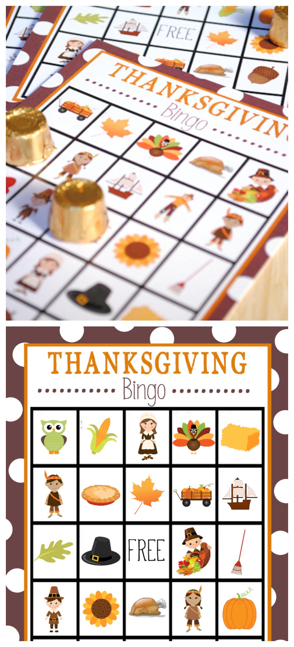 Free Printable Thanksgiving Bingo Game | Thanksgiving | Thanksgiving - Free Printable For Thanksgiving