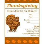 Free Printable Thanksgiving Flyer Invintation Template | Holiday's   Create Free Printable Flyer