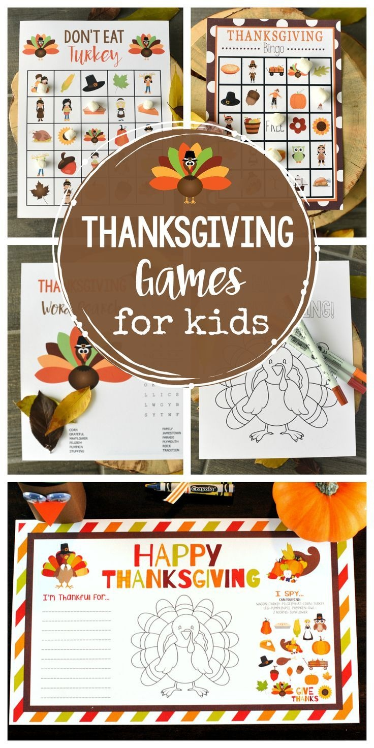 Free Printable Thanksgiving Games For Kids | Gobble Gobble! It's - Free Printable Thanksgiving Games For Adults