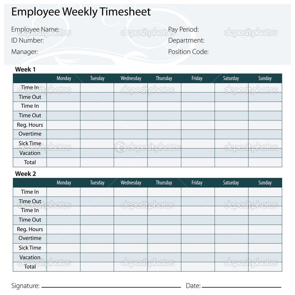 Free Printable Timesheet Templates | Timesheet Template Free Excel - Timesheet Template Free Printable