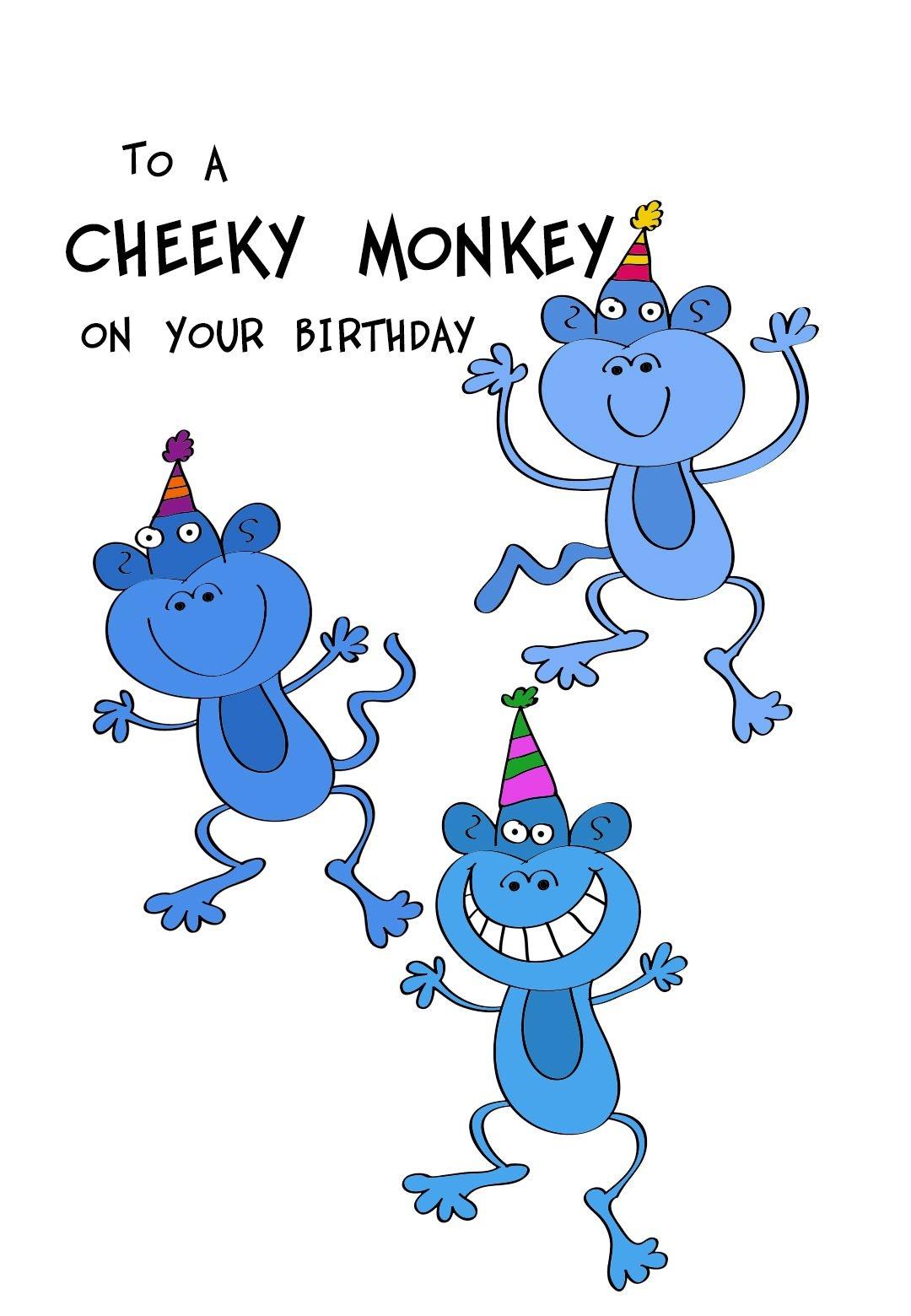 Free Printable To A Cheeky Monkey Greeting Card #birthday - Customized Birthday Cards Free Printable