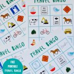 Free Printable Travel Bingo Game | Travel Tips & Ideas | Travel   Free Printable Car Bingo