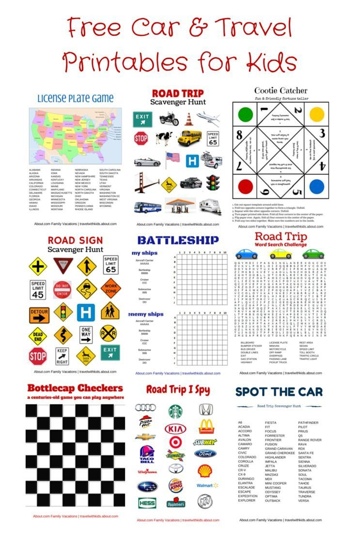 Free Printable Travel Games For Kids | Family Road Trips | Road Trip - Free Printable Car Ride Games