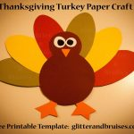 Free Printable Turkey Template Thanksgiving Potluck Templates   Free Printable Thanksgiving Turkey Template