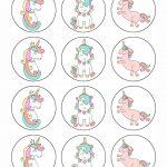 Free Printable Unicorn Cupcake Toppers | Baking Tips | Unicorn   Free Printable Unicorn Cupcake Toppers