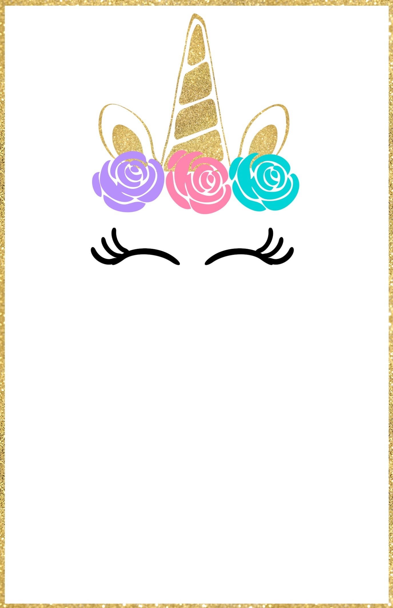 Free Printable Unicorn Invitations Template - Paper Trail Design - Free Printable Invitations