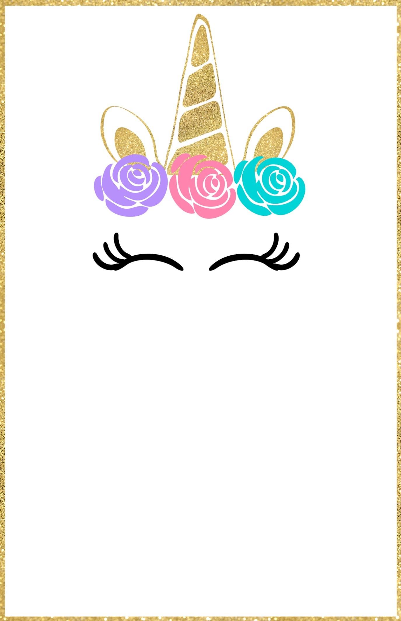 Free Printable Unicorn Invitations Template - Paper Trail Design - Free Printable Unicorn Invitations