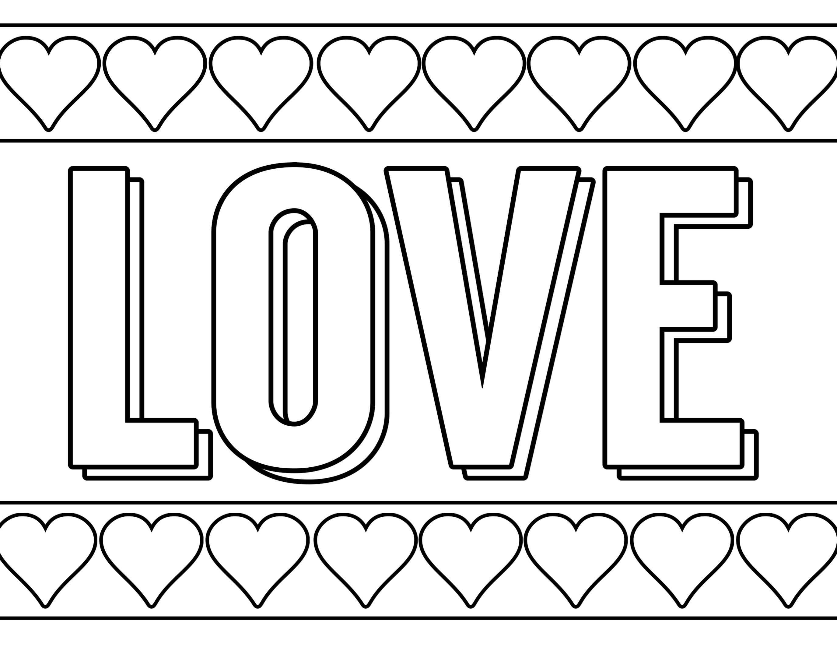 Free Printable Valentine Coloring Pages - Paper Trail Design - Free Printable Valentine Coloring Pages