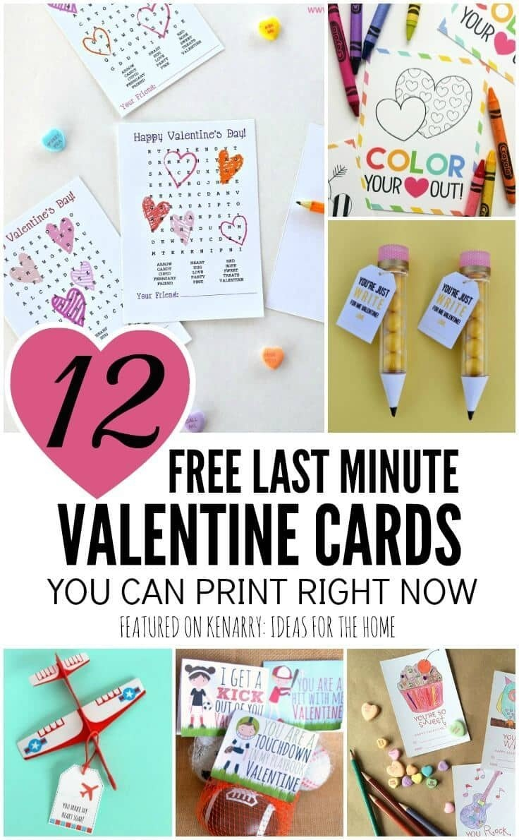 Free Printable Valentines: 12 Last Minute Cards You Can Print Now - Free Printable Valentines For Kids