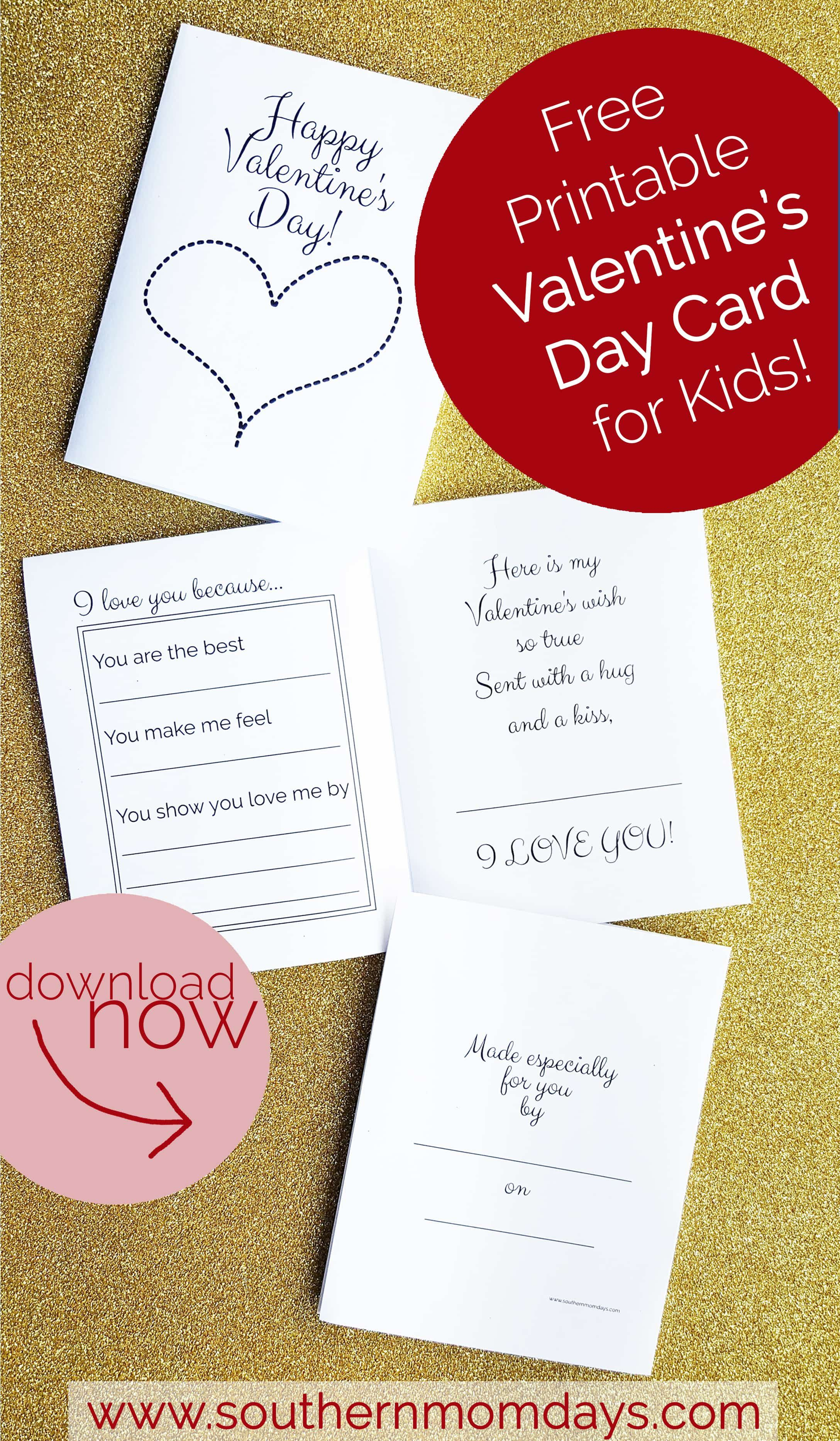Free Printable: Valentine's Day Card For Kids | Valentine's Day - Free Printable Valentines Day Cards For Parents