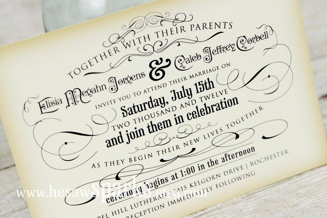 Free Printable Vintage Wedding Invitation Templates | Wedding Should - Free Printable Halloween Wedding Invitations