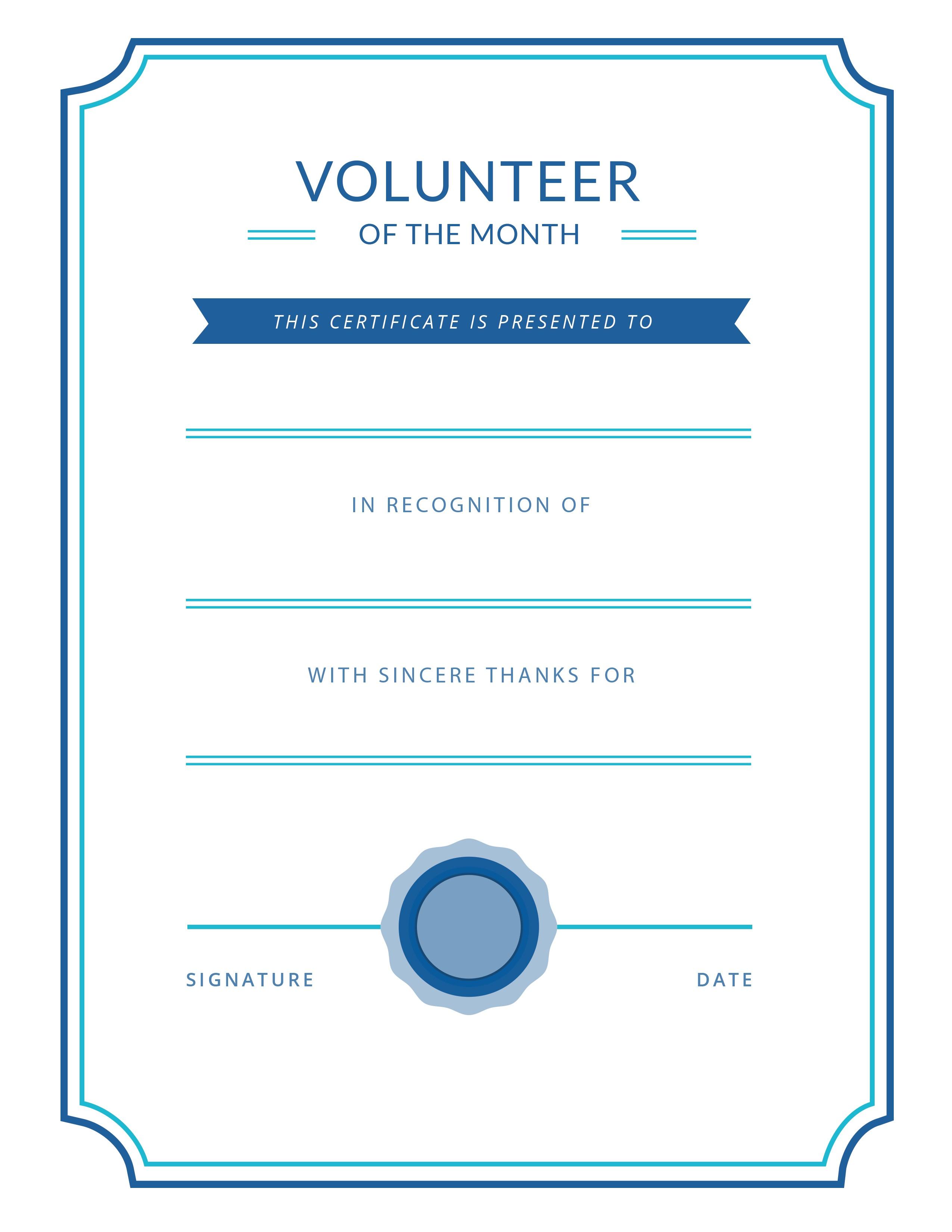 Free Printable Volunteer Appreciation Certificates   Signup - Free Printable Volunteer Certificates Of Appreciation