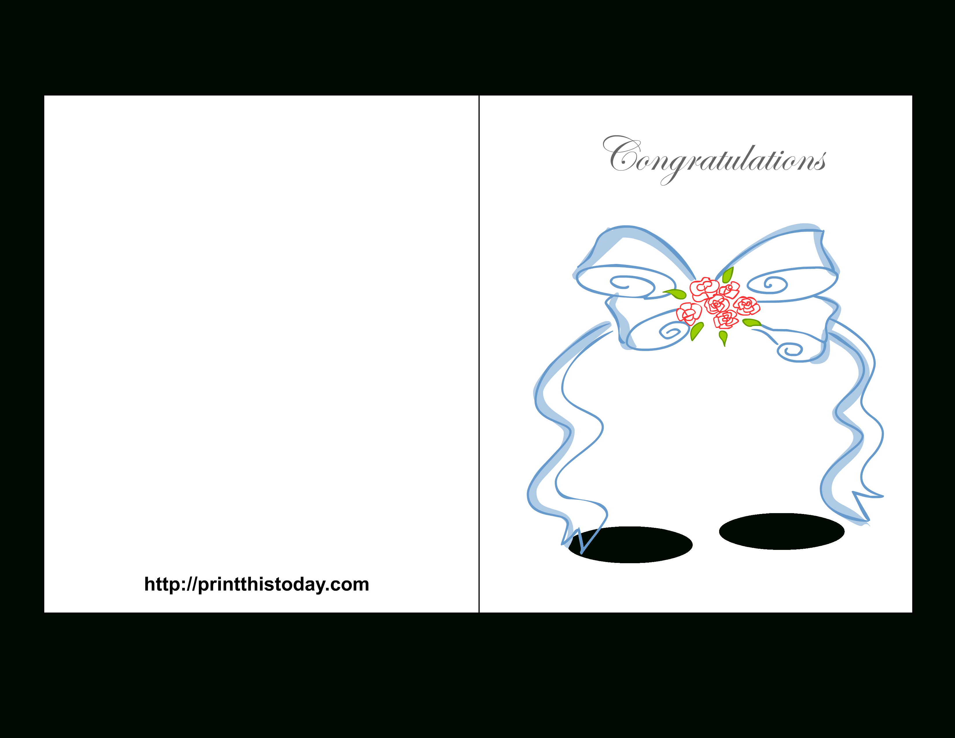 Free Printable Wedding Congratulations Cards - Wedding Wish Cards Printable Free