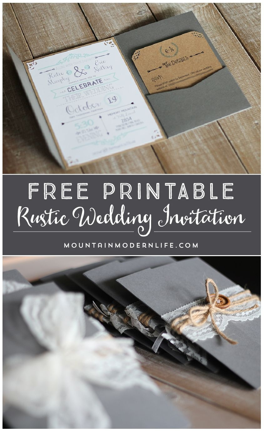 Free Printable Wedding Invitation Template     Mountainmodernlife - Free Printable Wedding Invitations Templates Downloads
