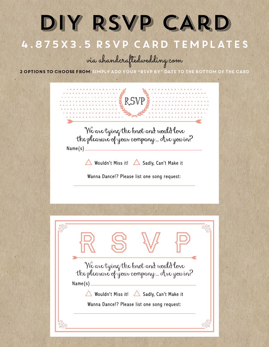 Free Printable Wedding Invitation Template | Wedding Invitations - Free Printable Rsvp Cards